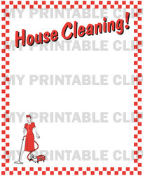 Retro House Cleaning Background