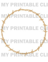 Western Barbed Wire Circle Background